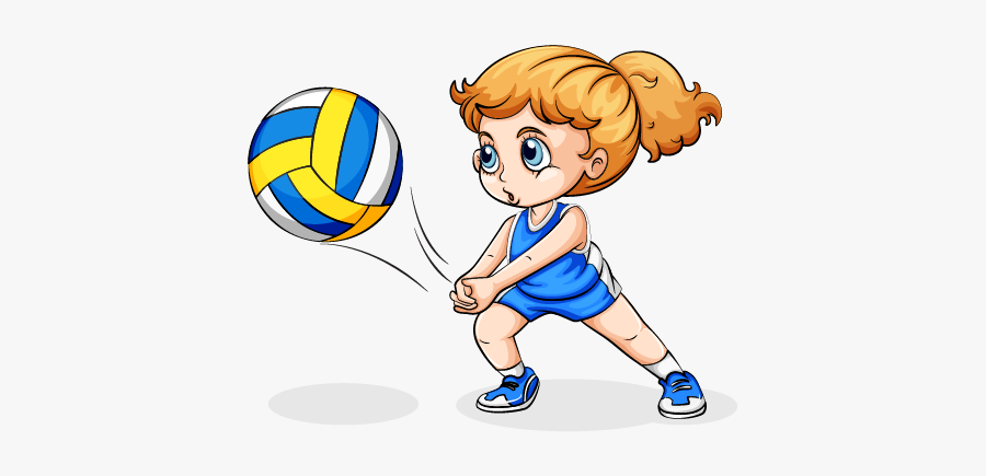Clip Art Girl Playing Volleyball Clipart - Play Volleyball Clipart, Transparent Clipart