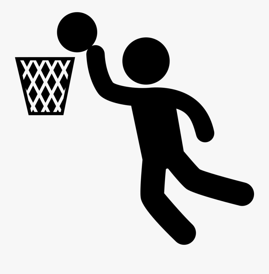 Throwing A Ball,volleyball Player,clip Art,playing - Basketball Player Icon, Transparent Clipart