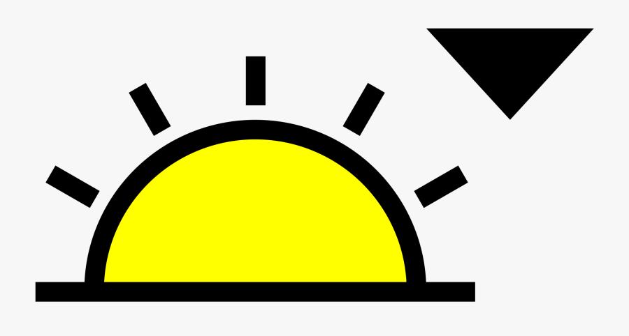 Angle,area,text - Sunset Symbol, Transparent Clipart