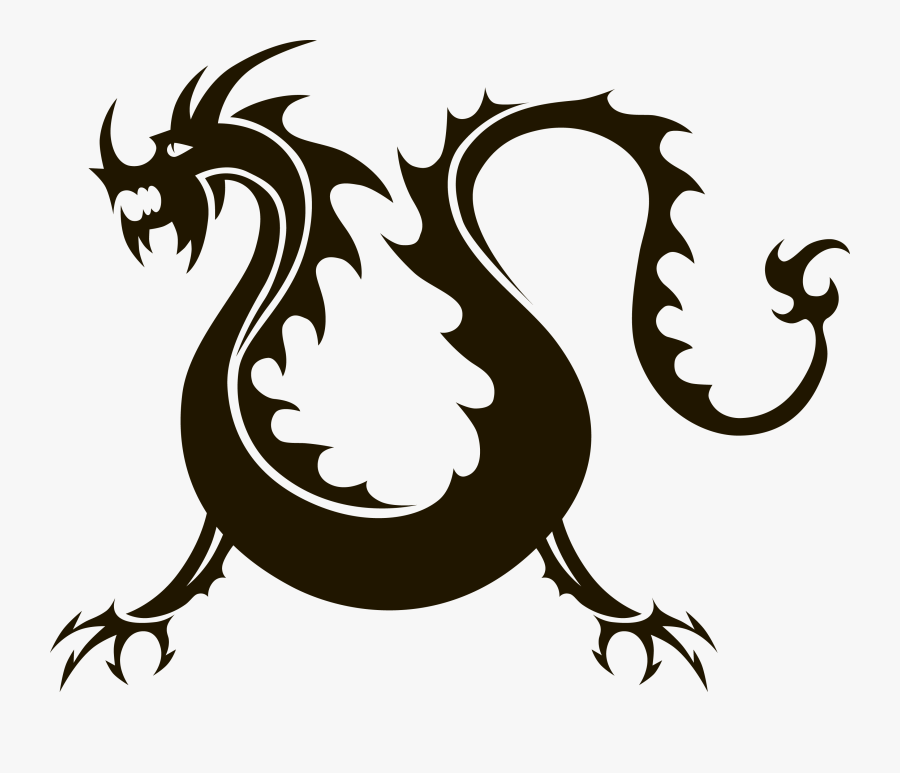 Transparent Chinese Clipart - Silhouette Chinese Dragon Icon Png, Transparent Clipart