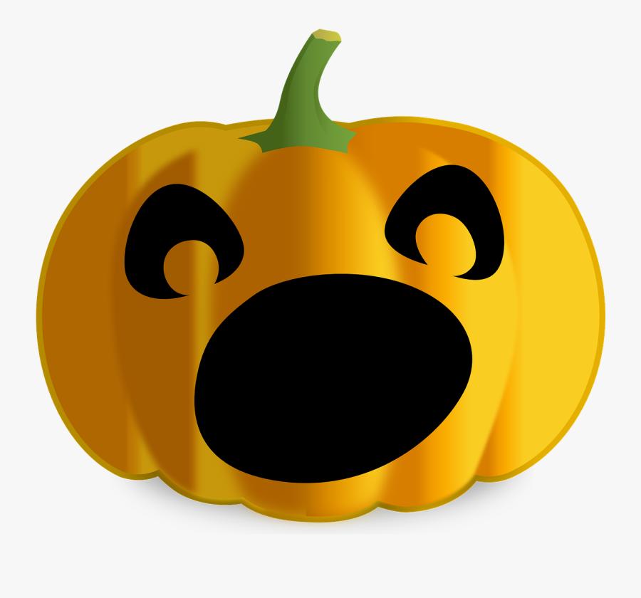Jackolantern Clipart Easy Pumpkin - Scared Jack O Lantern Face, Transparent Clipart