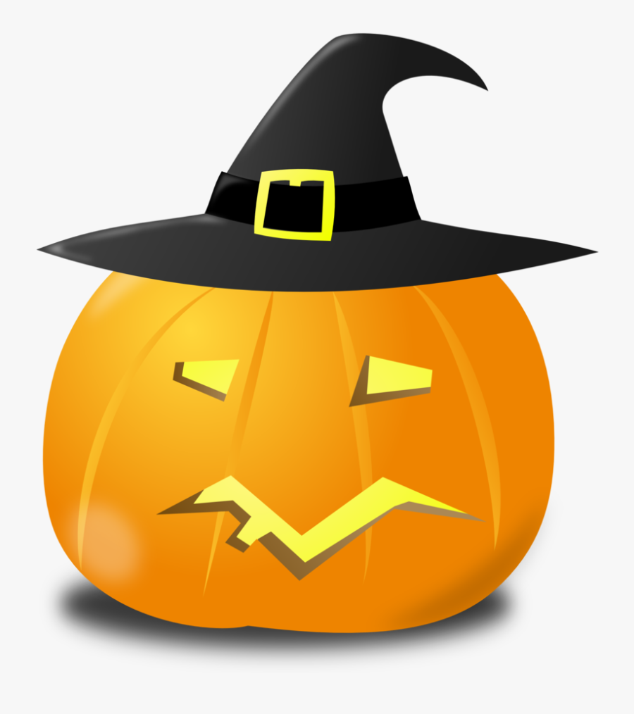 Clipart - Wtich Pumpkin - Jack-o'-lantern, Transparent Clipart