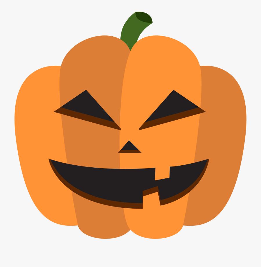 Calabaza Halloween Pumpkin Decoration - Transparent Cartoon Halloween Pumpkin, Transparent Clipart