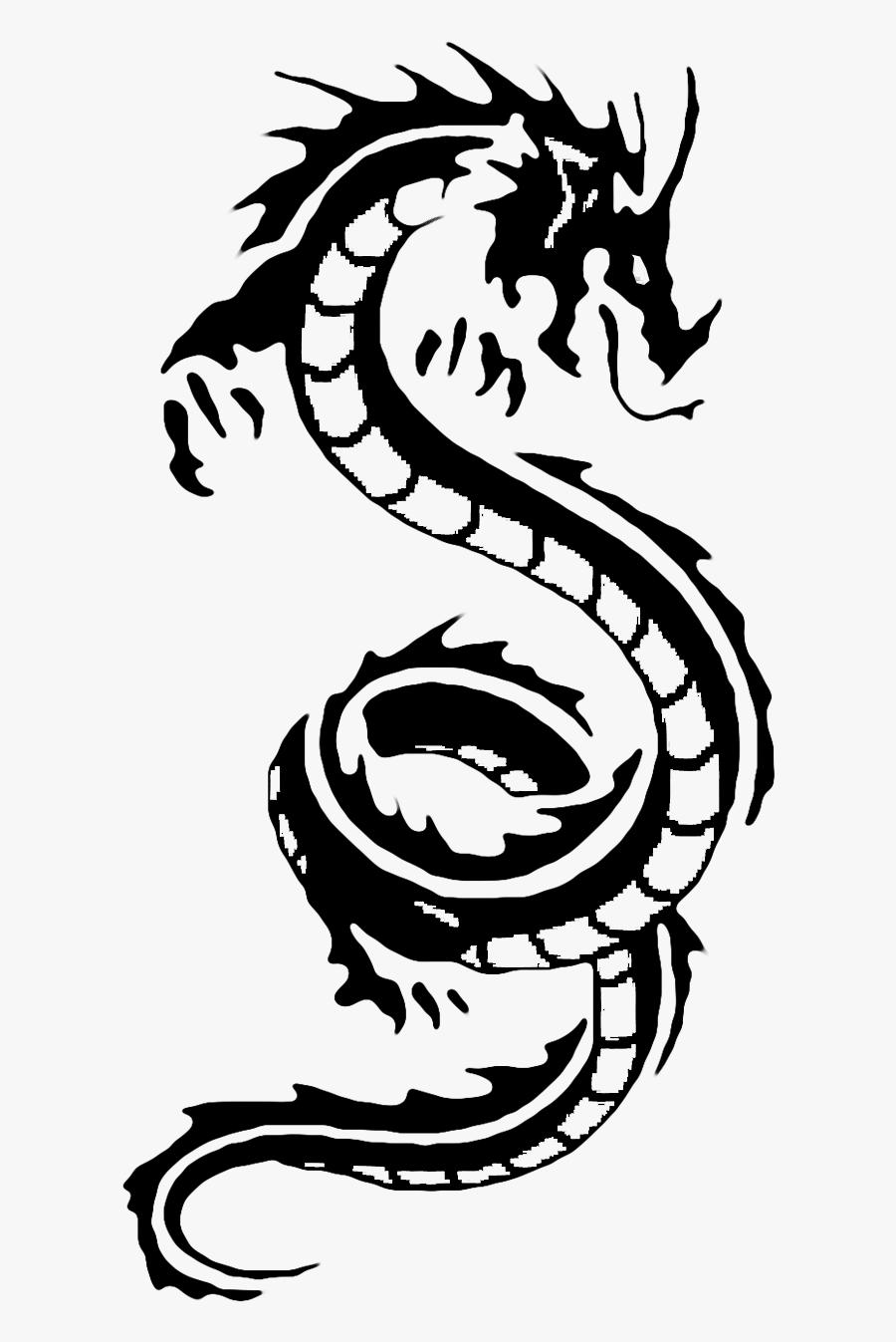 Chinese Dragon White Dragon Clip Art - Dragon Chinese Zodiac Tattoo, Transparent Clipart