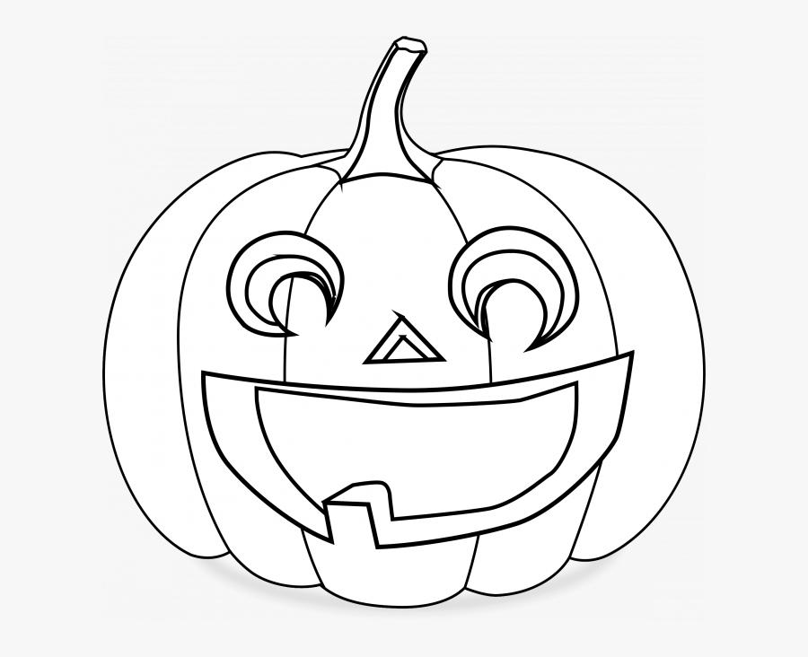 Jack O Lanterns Black White, Transparent Clipart