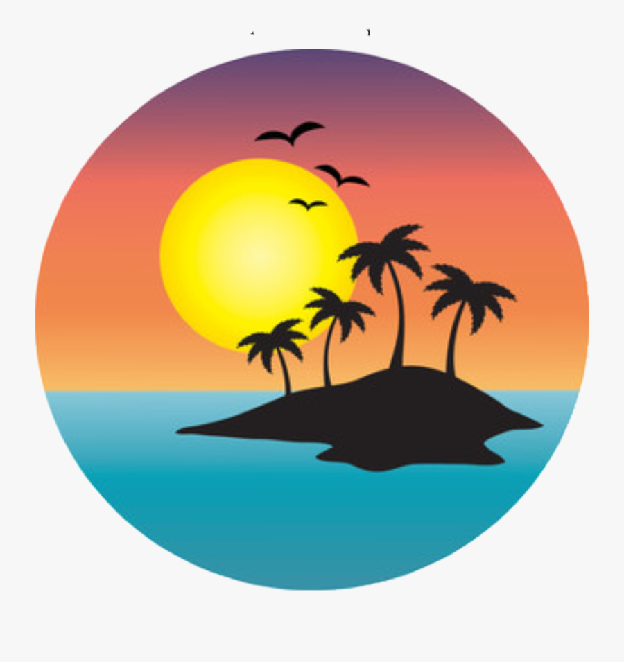 Transparent Sunset Clipart Png - Palm Tree Sunset Clipart, Transparent Clipart