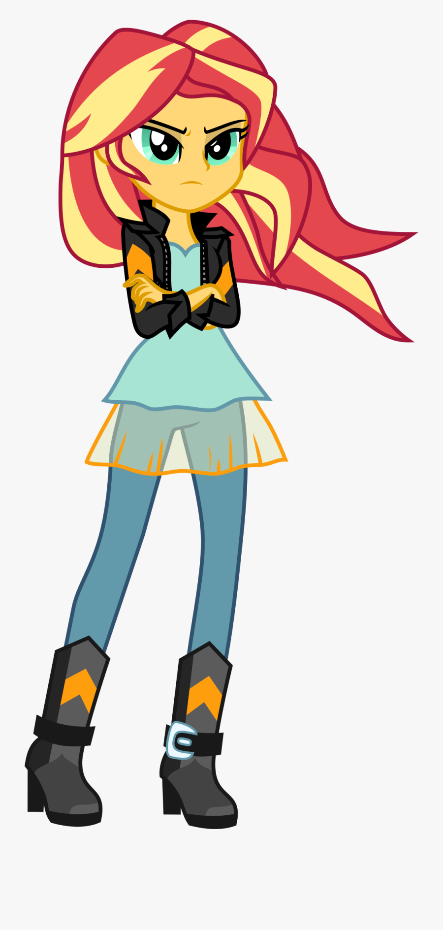 Artist Uponia Boots Clothes Crossed Arms - Friendship Games My Little Pony Equestria Girl Sunset, Transparent Clipart