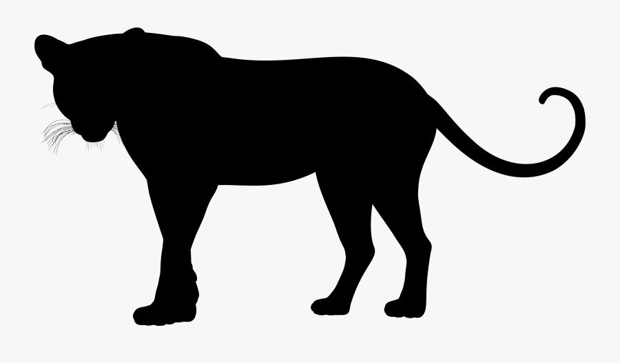 Monochrome - Leopard Silhouette Clip Art, Transparent Clipart