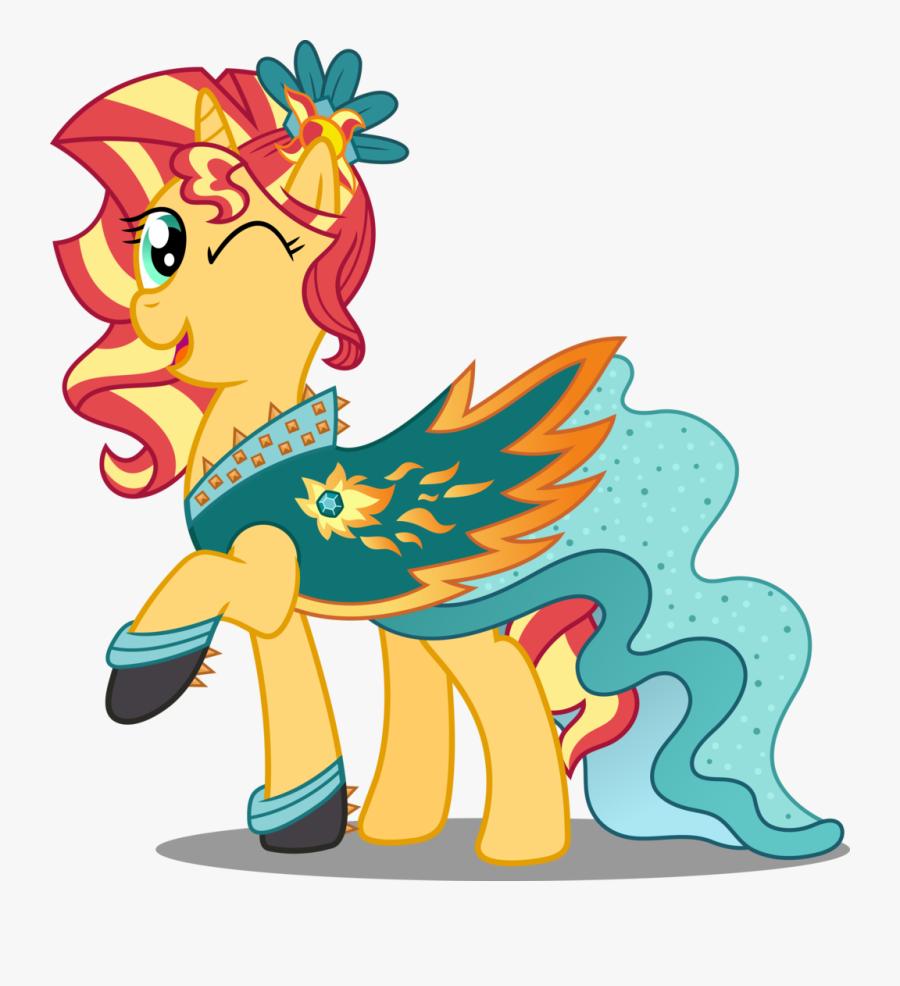 Pony Crystal Gala - Sunset Shimmer Dress Pony, Transparent Clipart