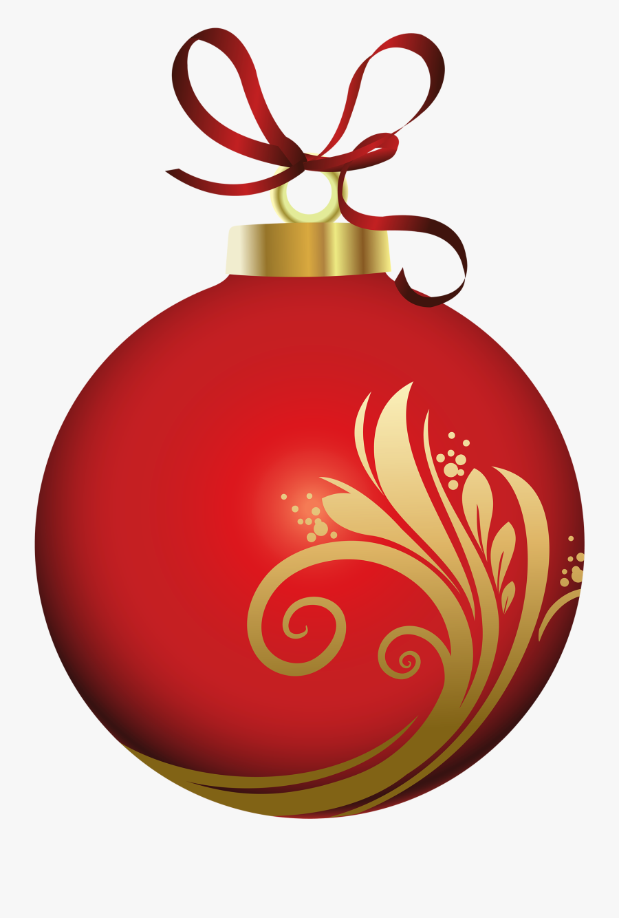 Christmas Ornament Clipart Png Red Christmas Ornament - Christmas Ball Decoration Png, Transparent Clipart