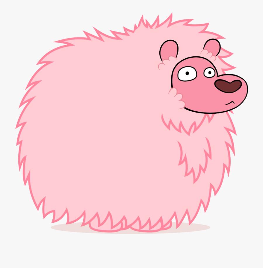 Pink Panther Clipart Steven Universe - Puff Lion, Transparent Clipart