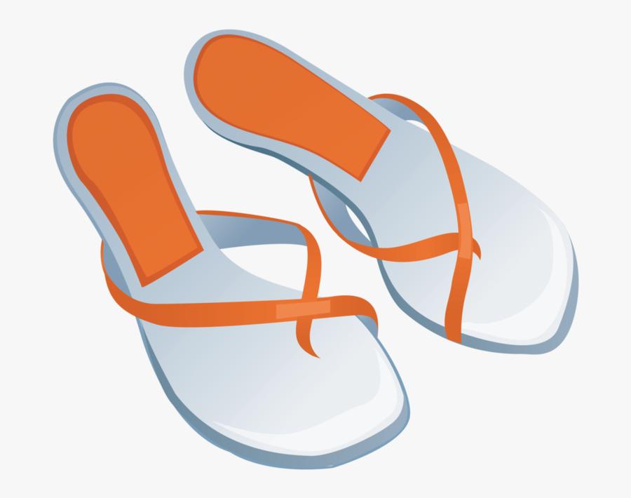 Transparent Slipper Clipart - Flip-flops, Transparent Clipart