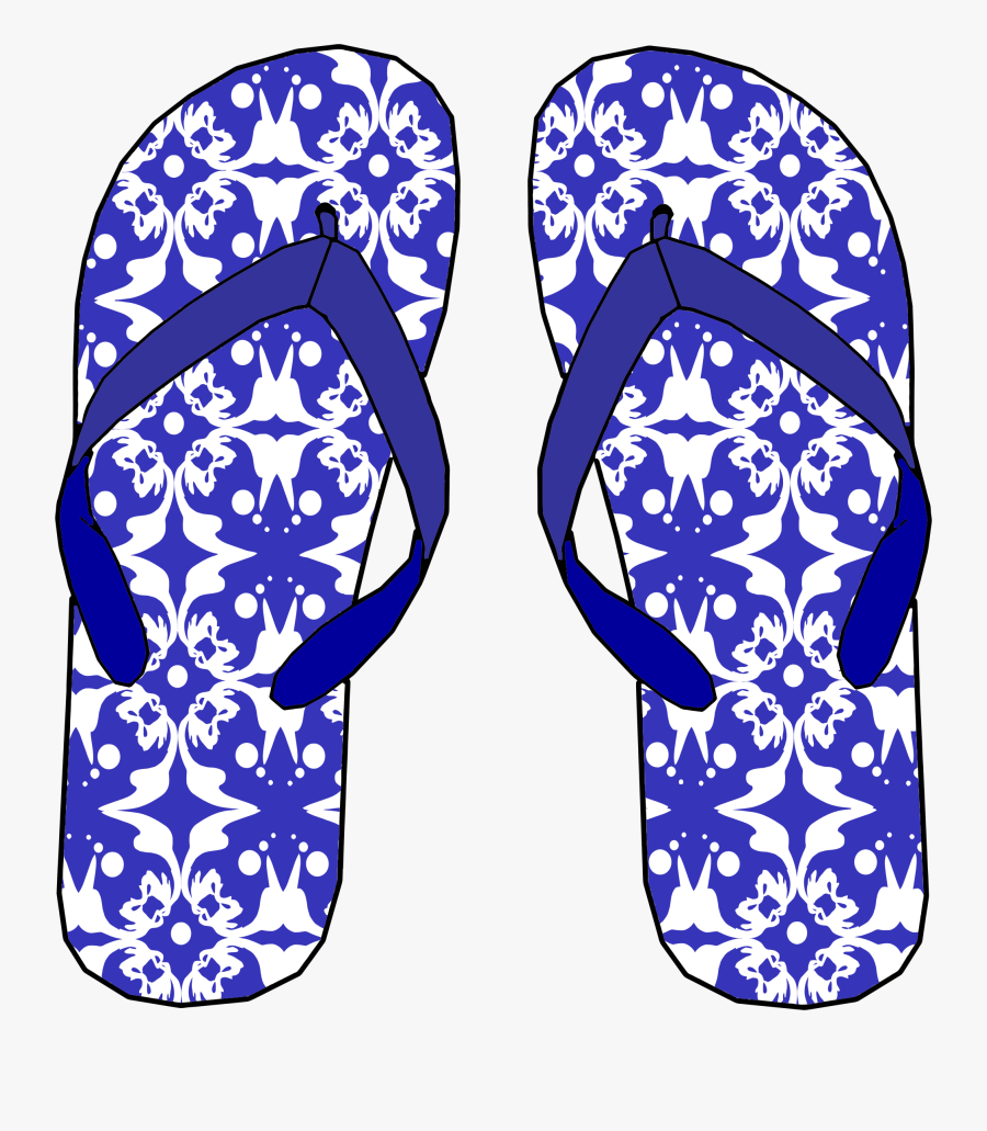 Blue,electric Blue,sandal - Big Flip Flops Clipart, Transparent Clipart