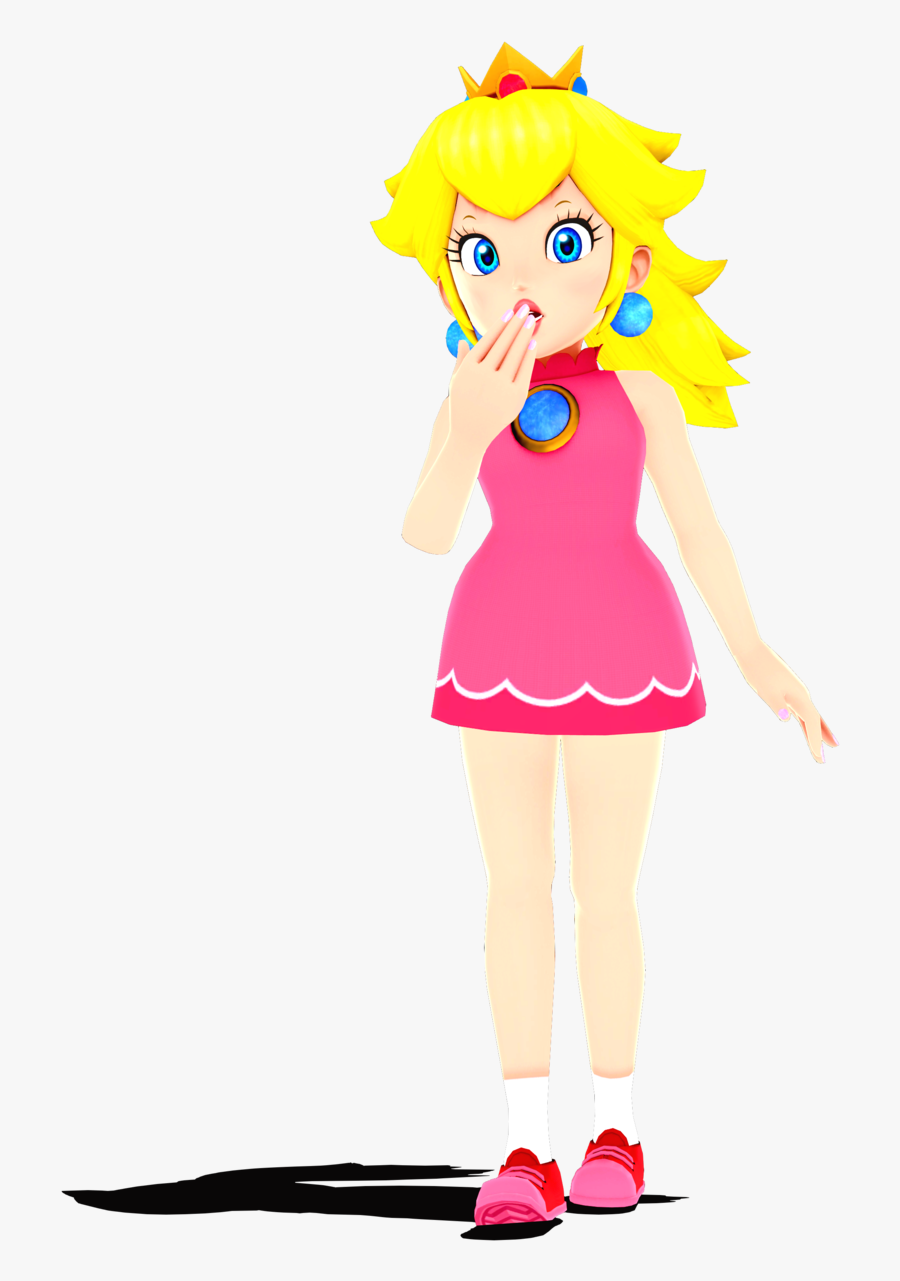 Jenna Drawing Baby Peach - Princess Peach Mmd Dl, Transparent Clipart