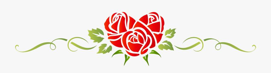 Heart Rose Floral Ornament Png Clip Art - Ornament Flower Pink Png, Transparent Clipart