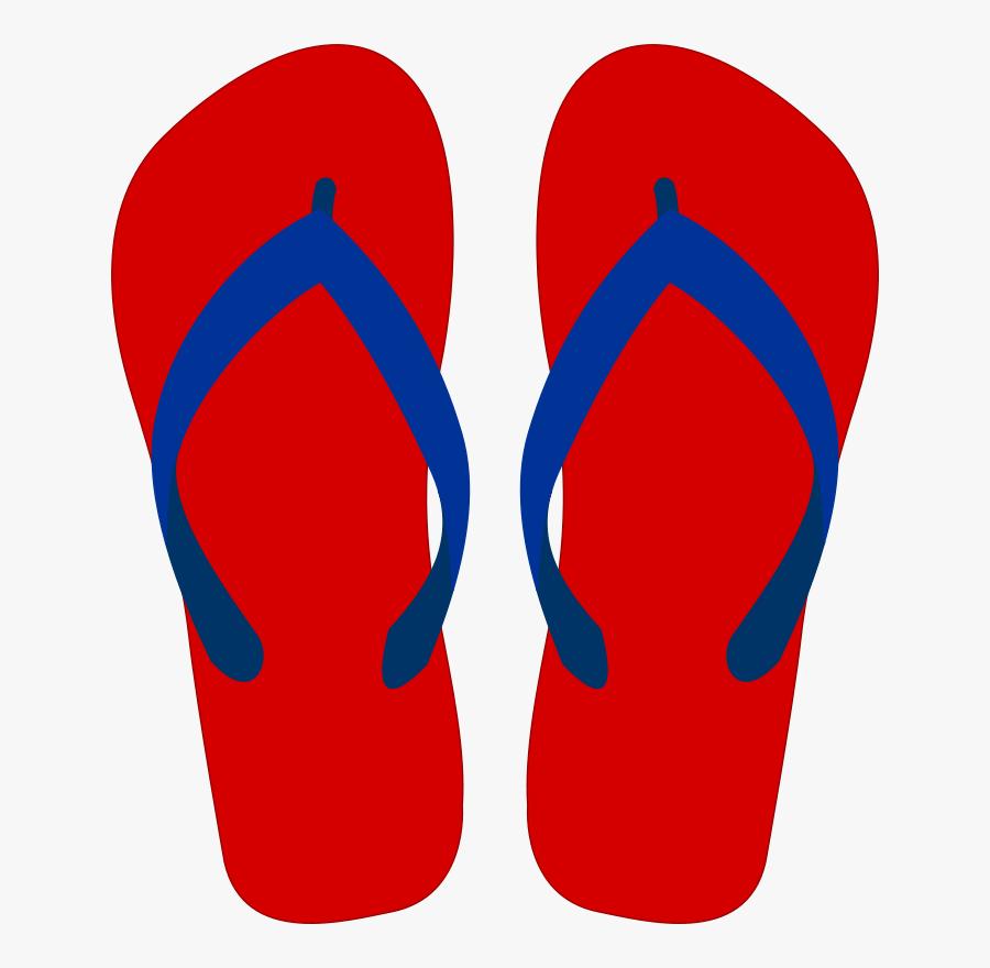 Transparent Sandals Clipart - Flip Flops Free Clip Art, Transparent Clipart