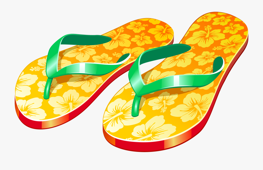 Transparent Sandals Clipart - Flip Flops With Transparent Background, Transparent Clipart