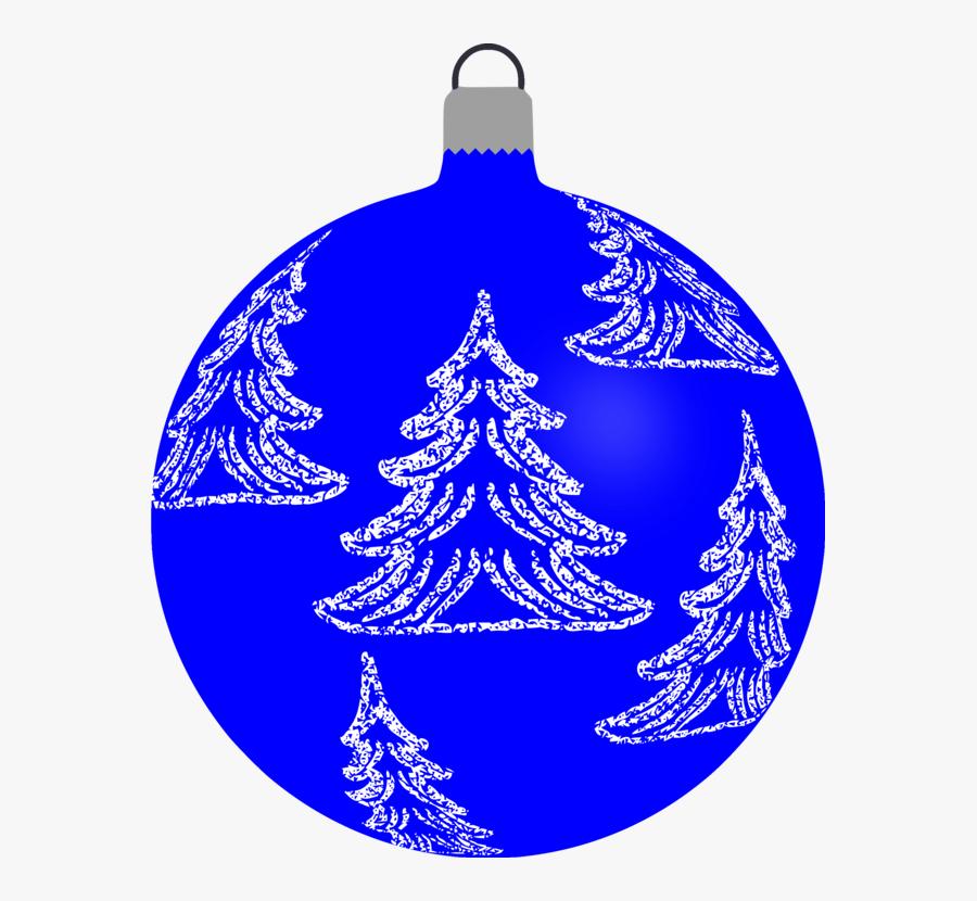 Blue,christmas Ornament,tree - Xmas Bauble Clip Art, Transparent Clipart