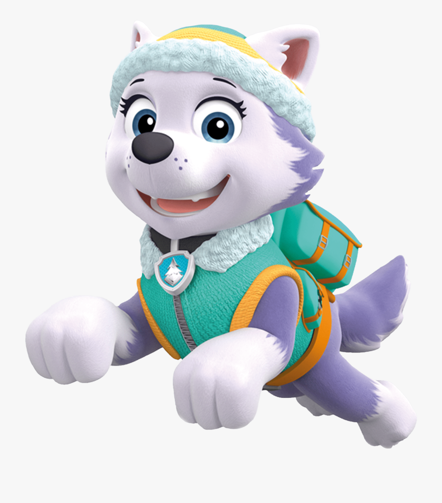 Everest Jumping Paw Patrol Clipart Png Clipart Image - Everest And Skye Paw Patrol, Transparent Clipart