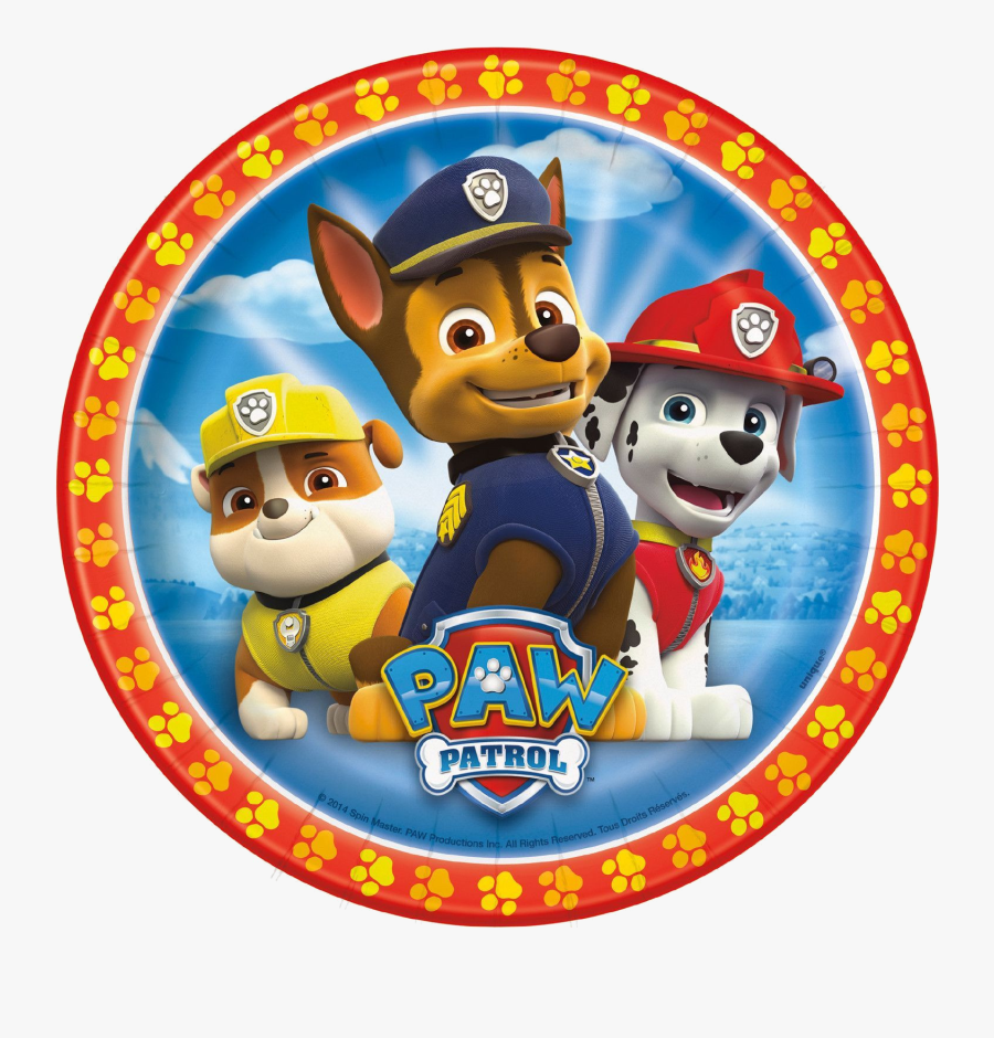Paw Patrol Clipart Luxury Plates Inches Per Pack Connor - Paw Patrol Marshall Chase Rubble, Transparent Clipart