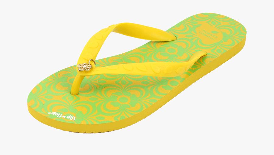 Tamara Comolli Flower Flip Flop In Yellow - Flip-flops, Transparent Clipart