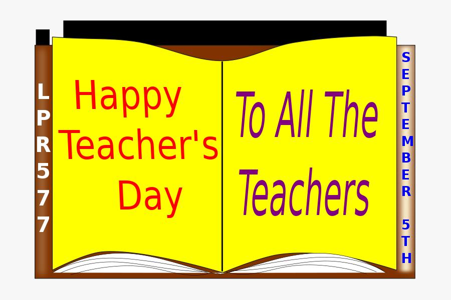 Free Clipart - Teacher& - Happy Teachers Day Post, Transparent Clipart