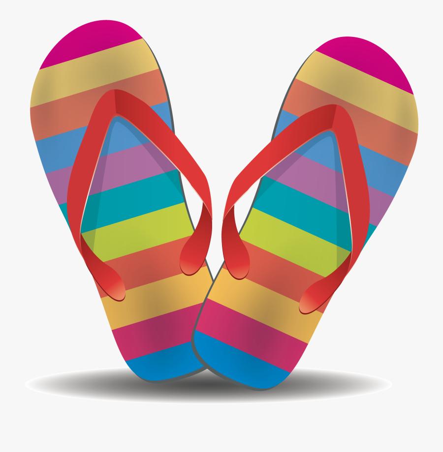 Purple Clipart Flip Flop - Beach Flip Flops Png, Transparent Clipart