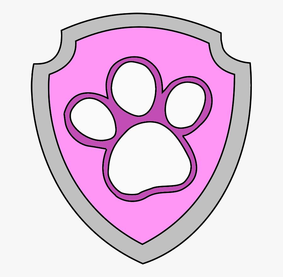 Paw Patrol Paw Badge, Transparent Clipart