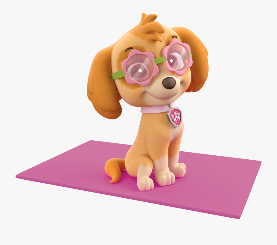 Clip Art Pictures Of Skye From Paw Patrol - Paw Patrol Skye Beach, Transparent Clipart