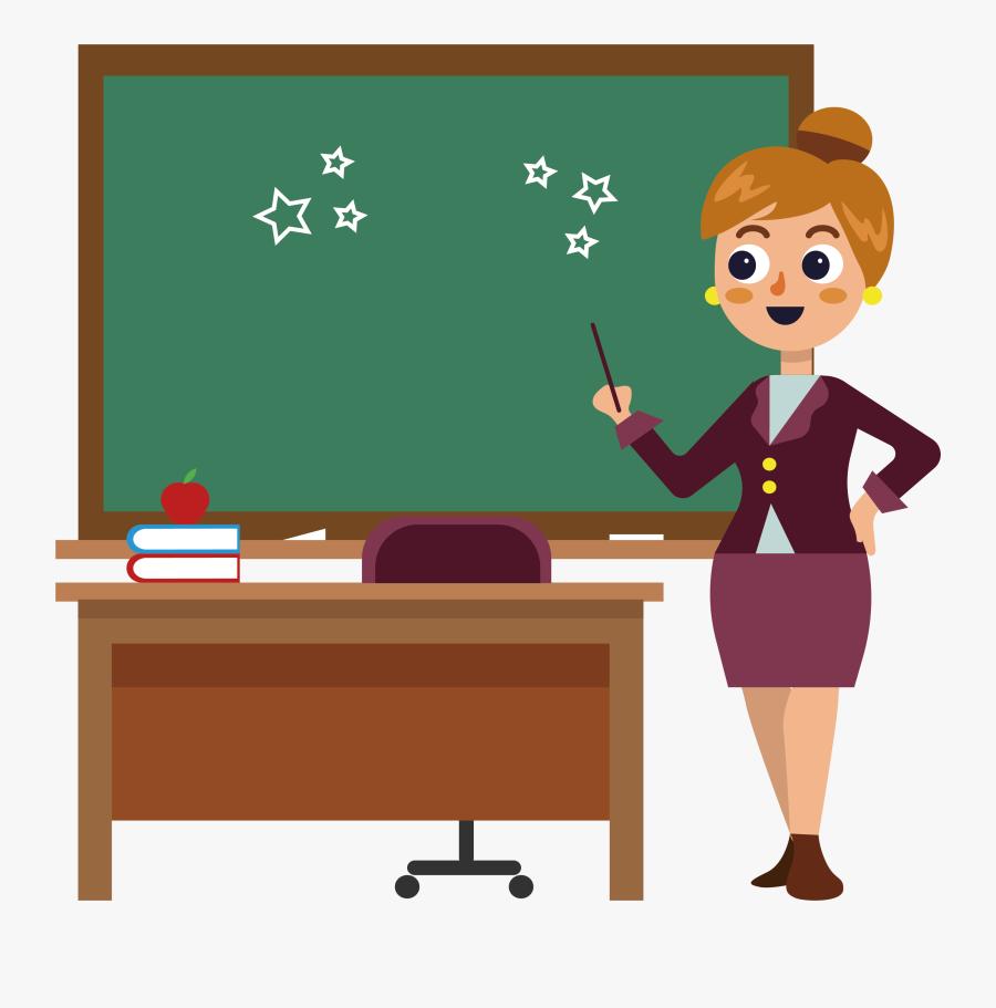 Transparent School Desk Png Clipart Picture Of Teacher Free Transparent Clipart Clipartkey