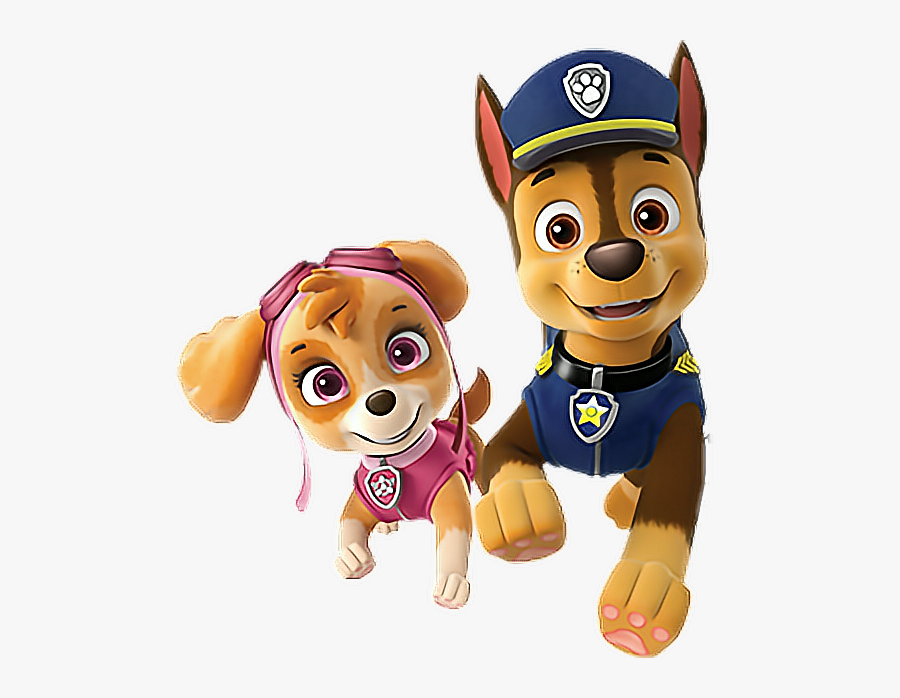 Paw Patrol Chase Y Skye - Skye And Chase Paw Patrol, Transparent Clipart