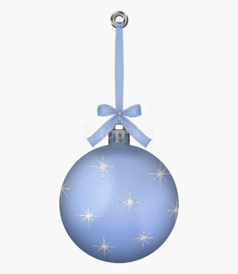 Free Png White Blue Hanging Christmas Ball Ornament - Blue Ornament Clip Art, Transparent Clipart