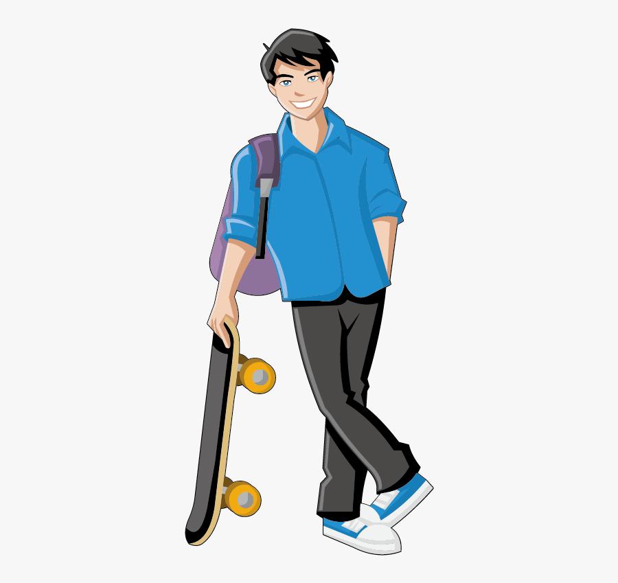Boy Girl Cartoon Clip Art Teenage Boy Clipart Png Free Transparent Clipart Clipartkey