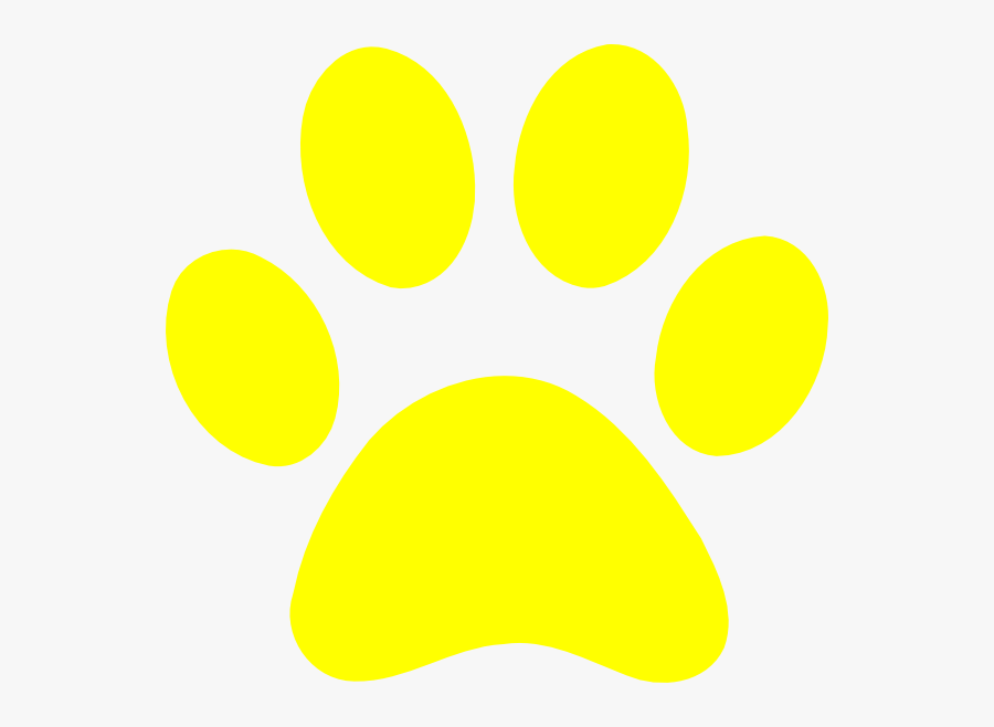 Free Paw Print Clipart Image - Bear Paw Print Yellow, Transparent Clipart