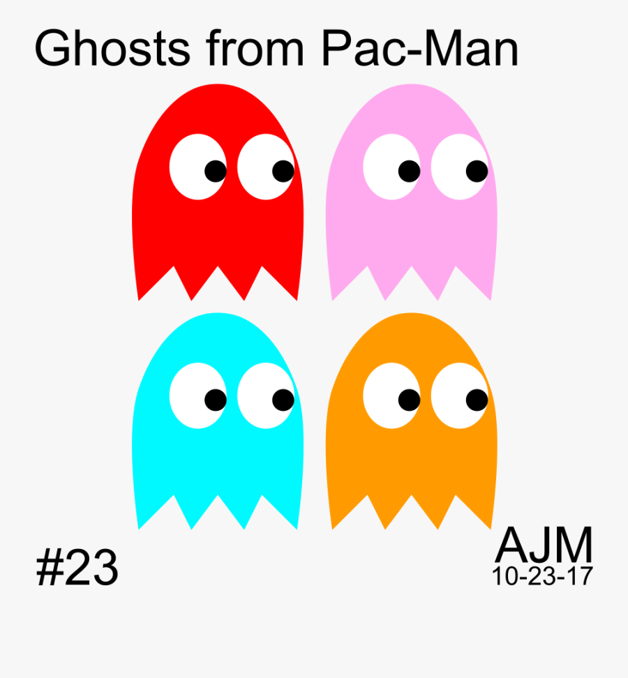 Ghost Clip Art Png Download - Pac Man Ghosts Clip Art, Transparent Clipart