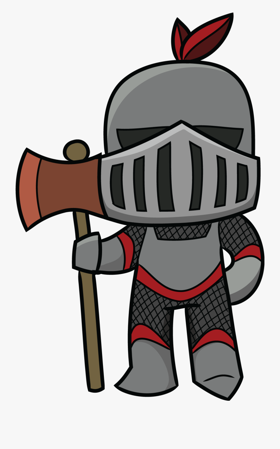 Cartoon Knight Clipart - Knights Middle Ages Clipart, Transparent Clipart