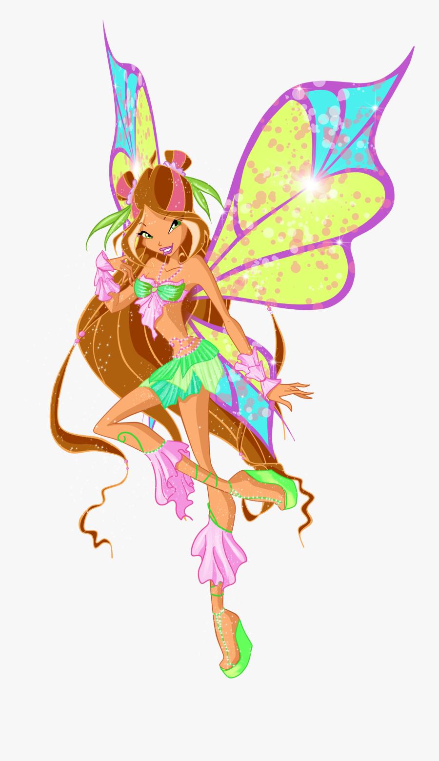 Fairy Clipart Flora - Winx Club Flora Sophix, Transparent Clipart