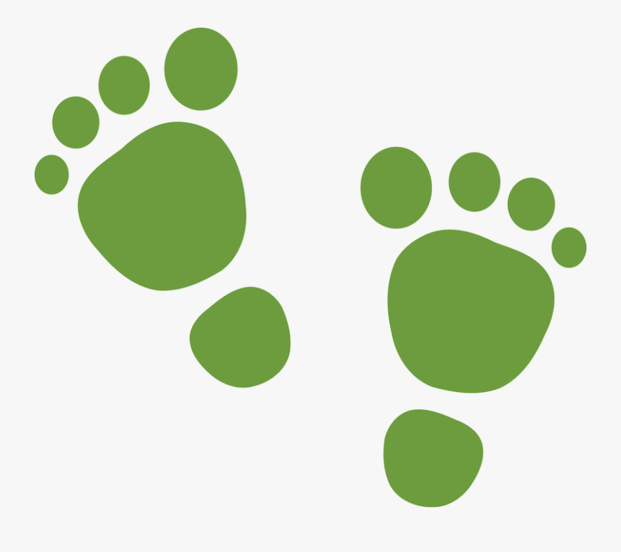 Green Feet Svg Clip Arts - Clipart Baby First Steps, Transparent Clipart