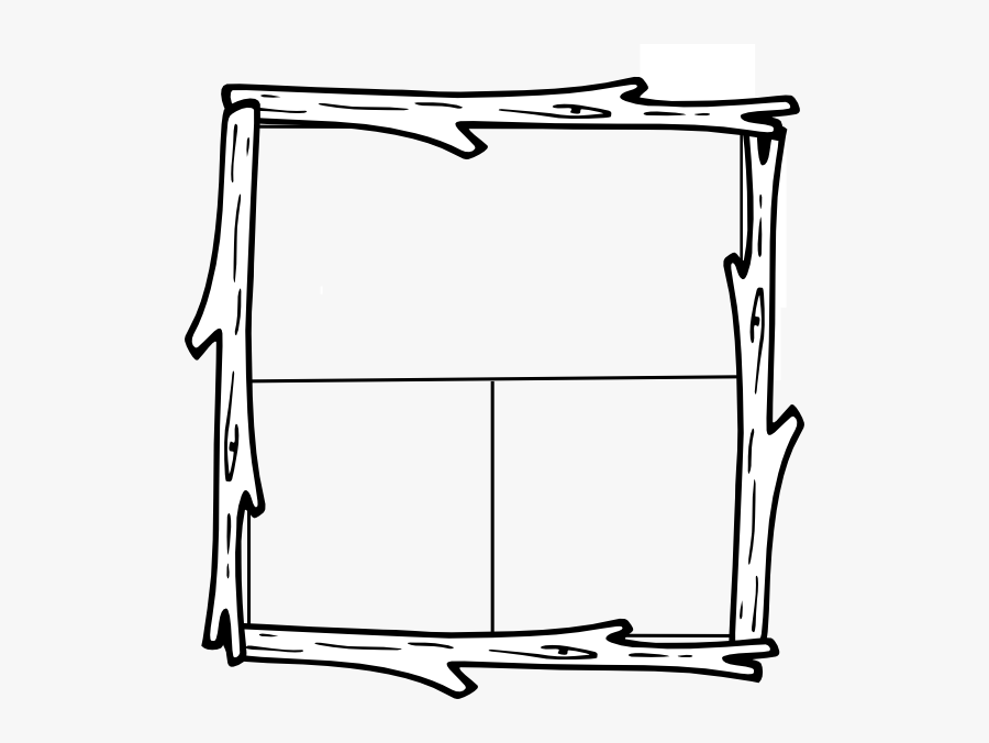 Hollow Log Clipart - Border In Log Wood, Transparent Clipart