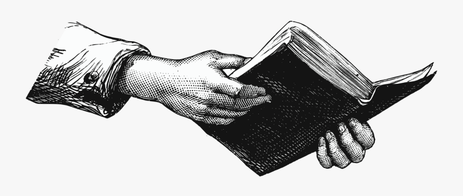 28 Collection Of Hand Holding Book Drawing - Hands Holding A Book, Transparent Clipart