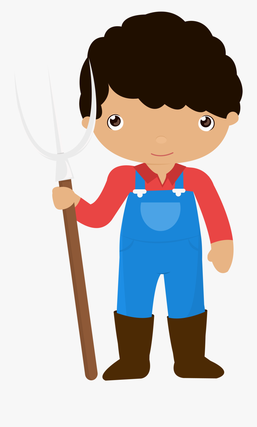 Little Farmer Boy Png - Farmer Clipart Png, Transparent Clipart