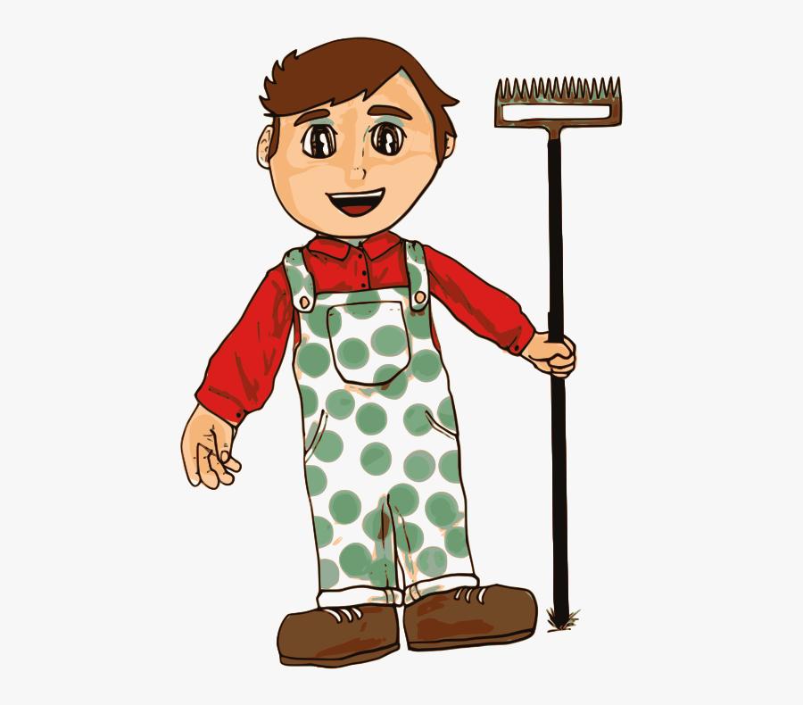 Clipart - Farmer Boy - Farmer Boy Clipart, Transparent Clipart