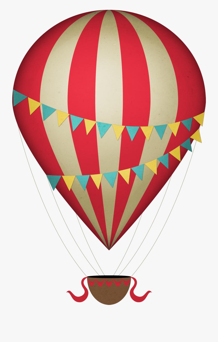Vintage Clipart Hot Air Balloon - Hot Air Balloon Clipart Png, Transparent Clipart