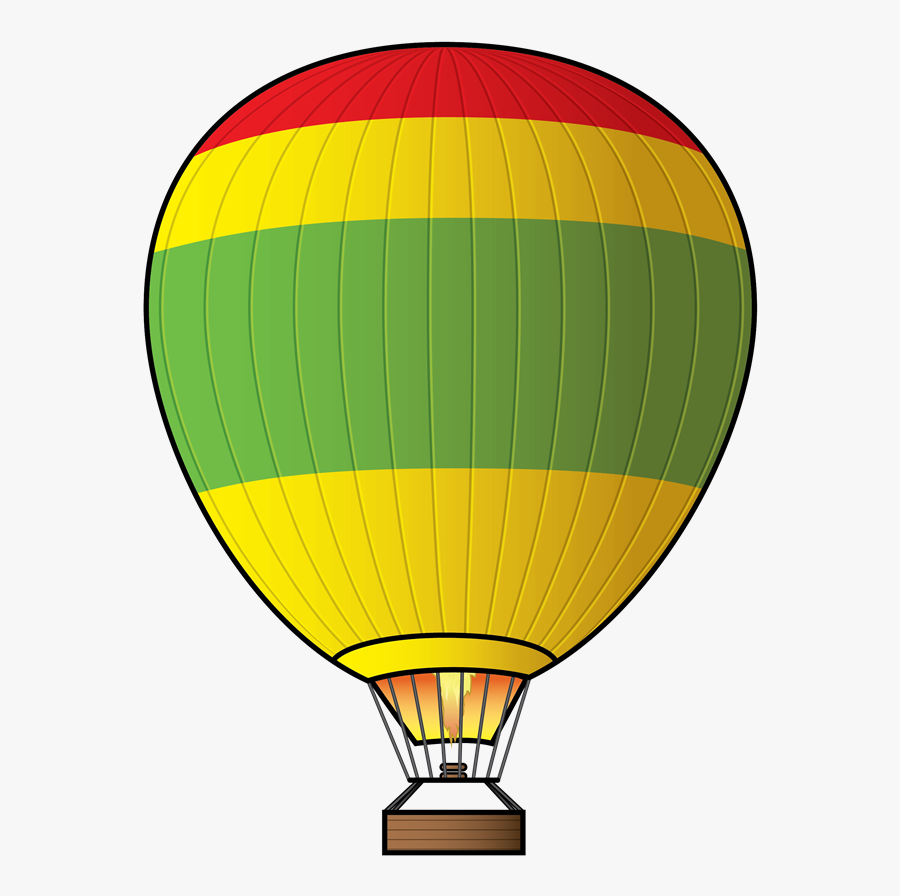 Hot Air Balloon Clip Art At Vector 4 Image - Hot Air Balloon Clipart With Fire, Transparent Clipart