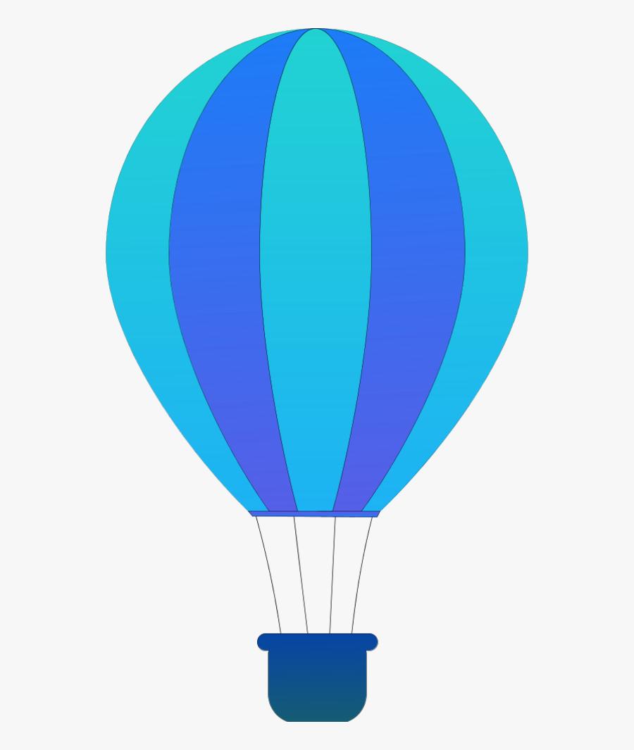 Vertical Striped Hot Air Balloons - Hot Air Balloon Clipart Png, Transparent Clipart