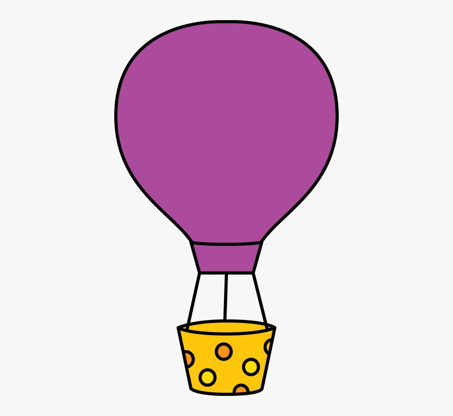 Cute - Hot - Air - Balloon - Clip - Art - Purple Hot Air Balloon Clip Art, Transparent Clipart