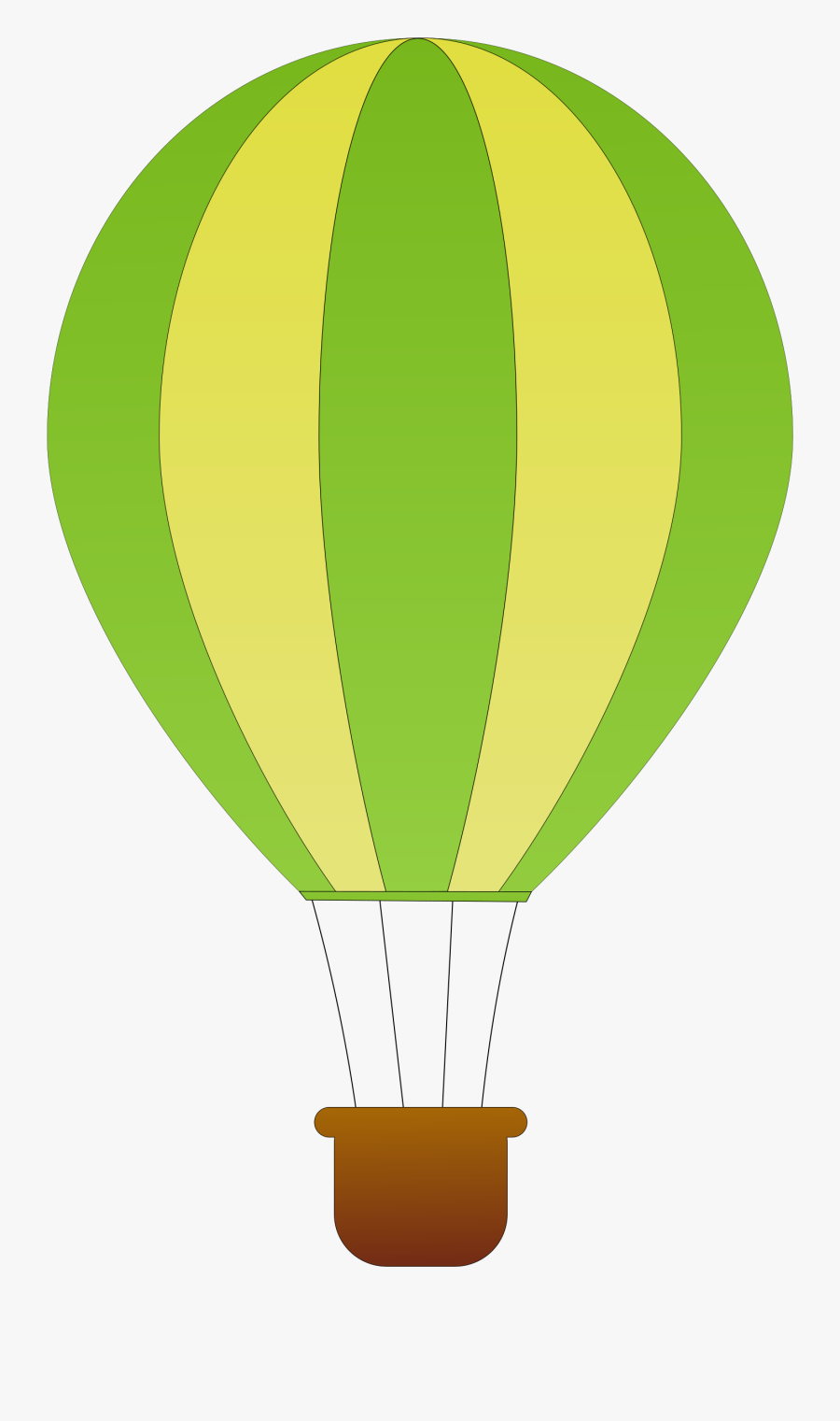 This Free Icons Png Design Of Vertical Striped Hot - Blue Hot Air Balloon Clipart, Transparent Clipart