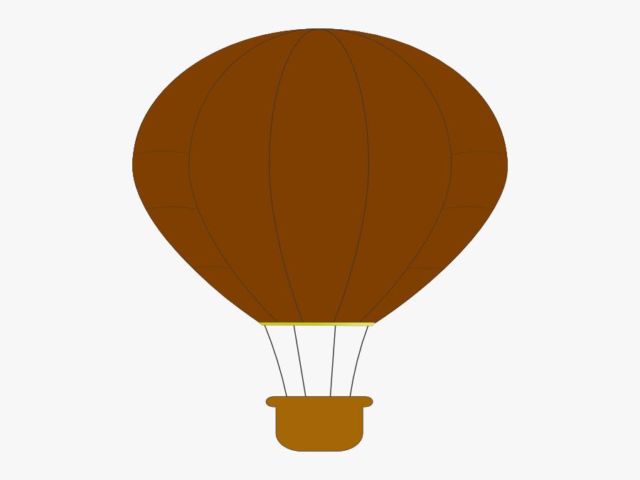 Brown Hot Air Balloon, Transparent Clipart