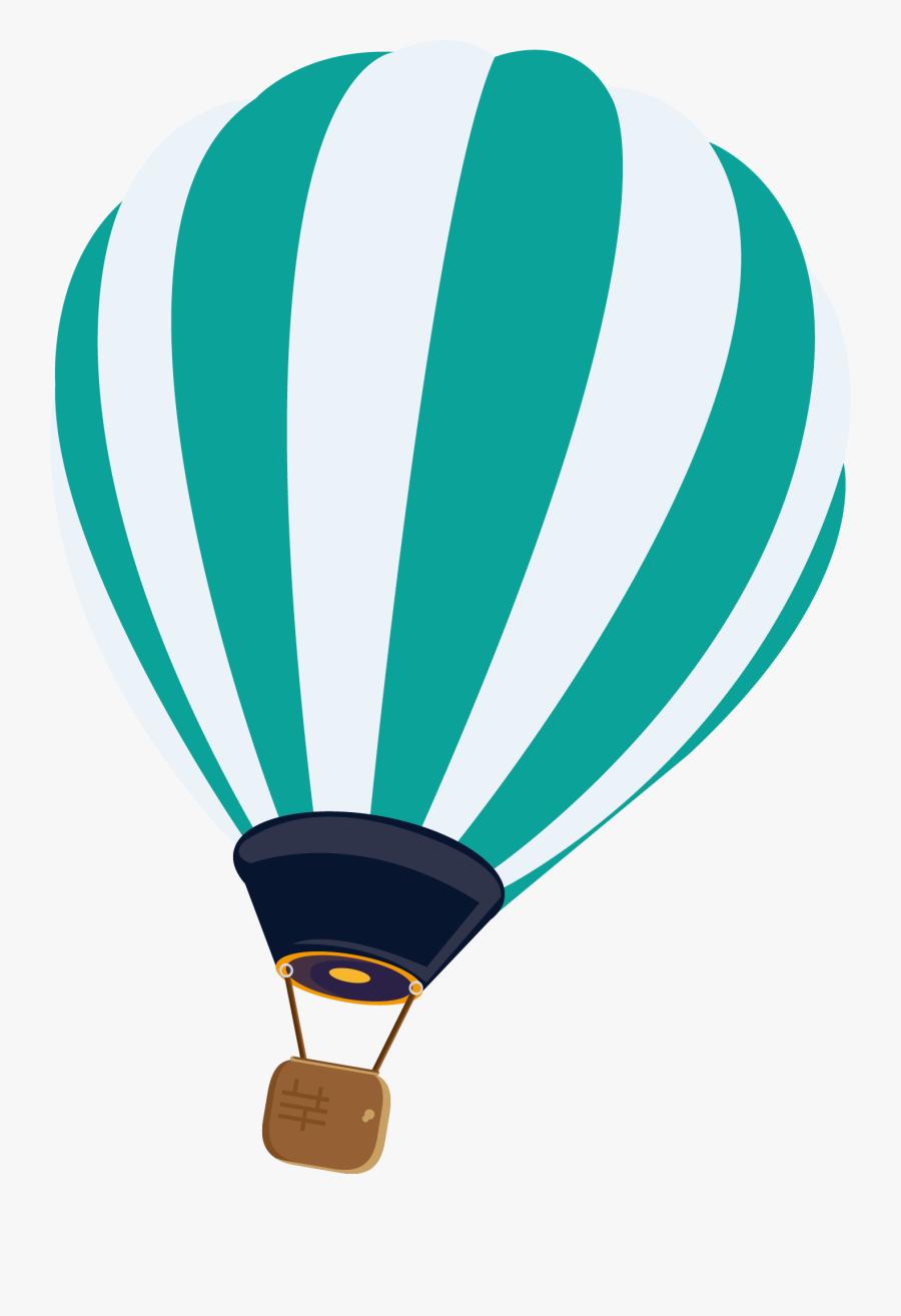 Clip Art Hot Air Balloon Vector - Hot Air Balloon Vector Hd, Transparent Clipart
