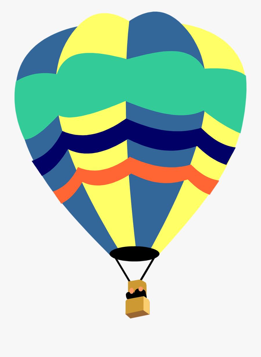 Hot Air Balloon Clip Art Png - Cute Hot Air Balloon Clip Art, Transparent Clipart
